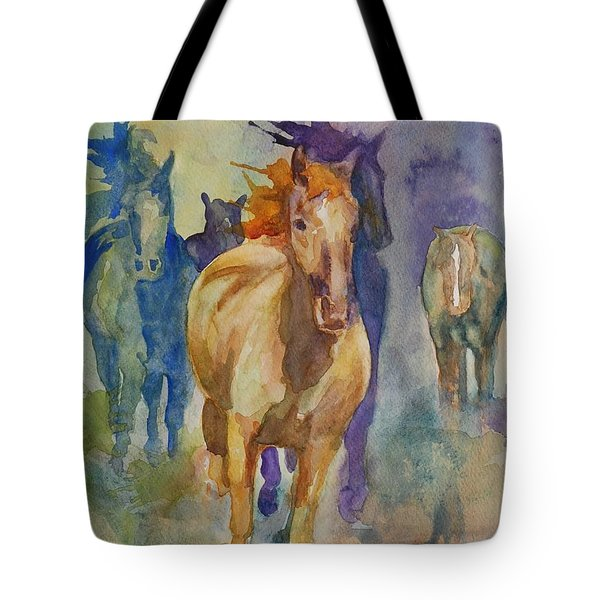 Wild Horses Tote Bag by Gretchen Bjornson