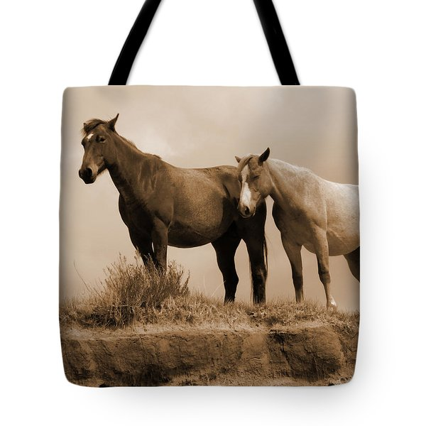 Wild Horses In Western Dakota Tote Bag
