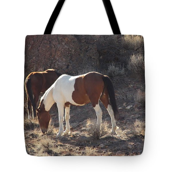 Tote Bag featuring the photograph Wild Horses by Robin Regan