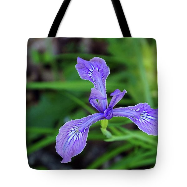 Tote Bag featuring the photograph Wild Iris by Ben Upham III