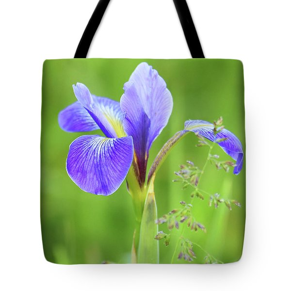 Tote Bag featuring the photograph Wild Iris by Sally Sperry