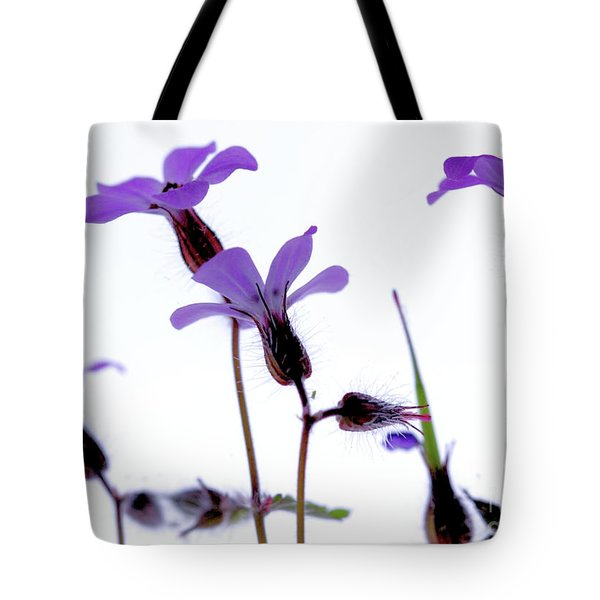 Wild Knotted Cranesbill Tote Bag