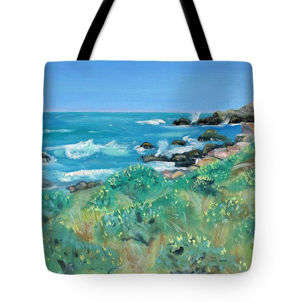 Wild Lupin At Gerstle Cove Park In May Tote Bag