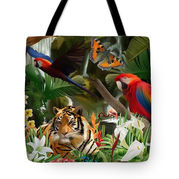 Tote Bag featuring the digital art Wild by Mark Taylor