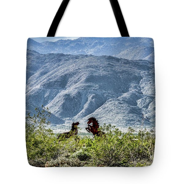 Wild Metal Mustangs Tote Bag