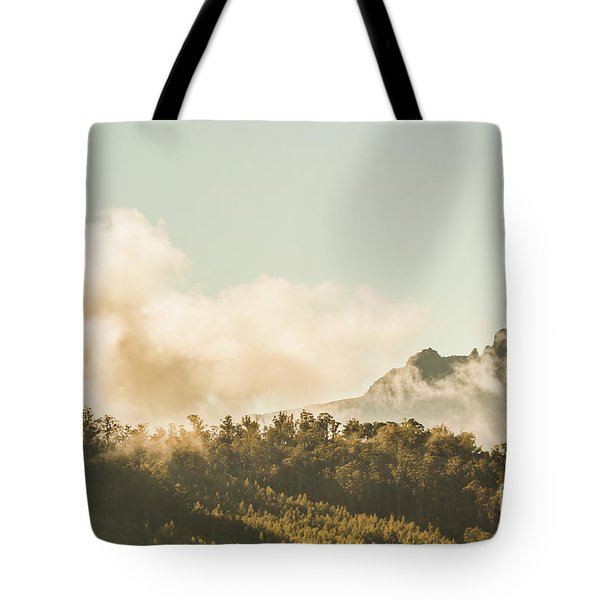 Wild Morning Peak Tote Bag
