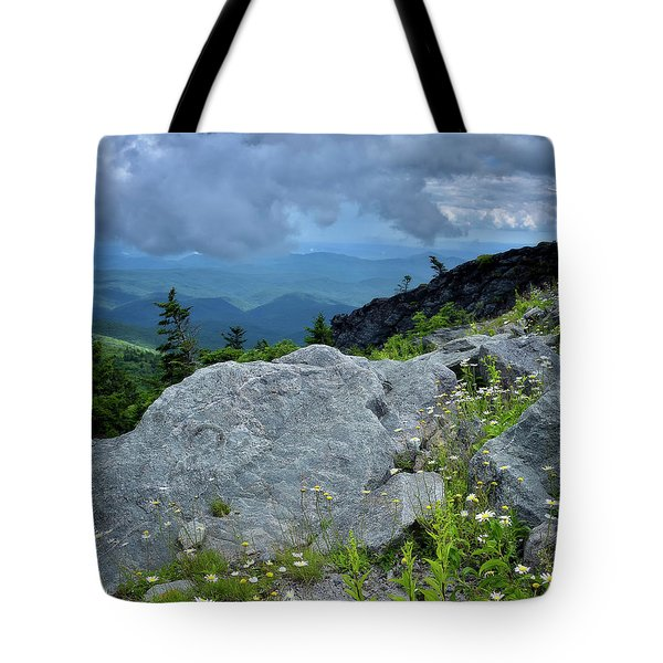 Wild Mountain Flowers Tote Bag