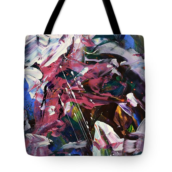 Wild Orchid Abstract Tote Bag