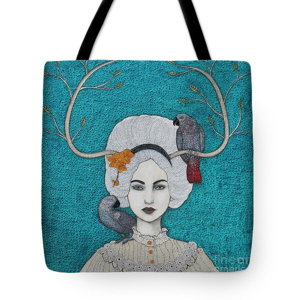 Tote Bag featuring the mixed media Wild Orchid by Natalie Briney