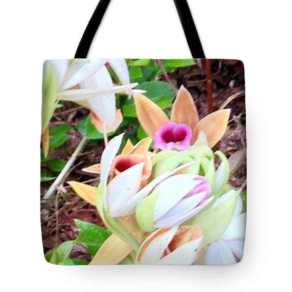 Wild Orchids In Pastel Tote Bag