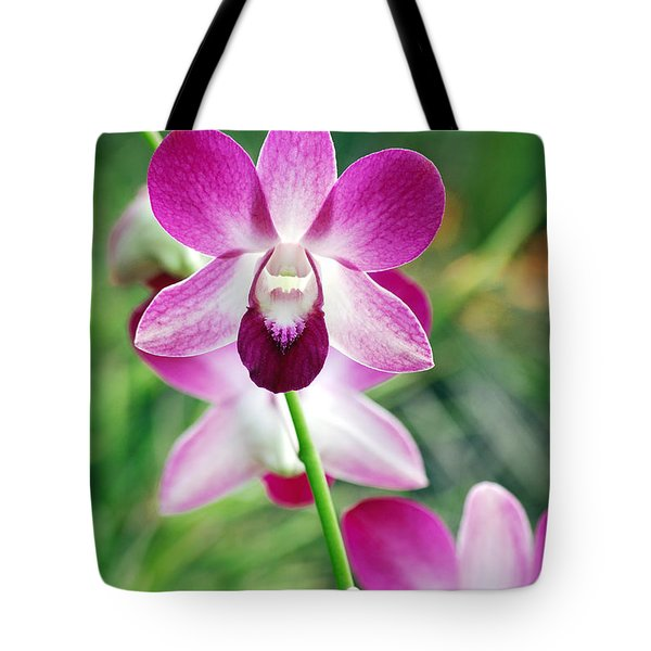 Wild Orchids Tote Bag by Michael Peychich