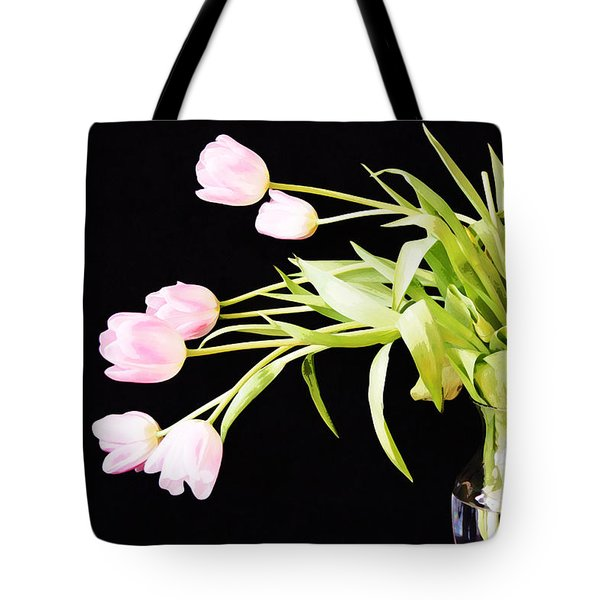 Wild Pink Tulips Tote Bag