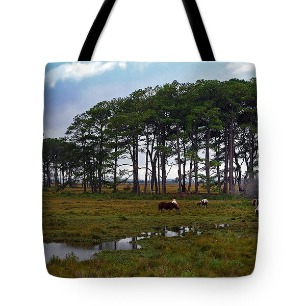 Wild Ponies Of Assateague Tote Bag