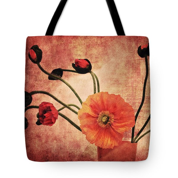 Wild Poppies Tote Bag by Angela Doelling AD DESIGN Photo and PhotoArt