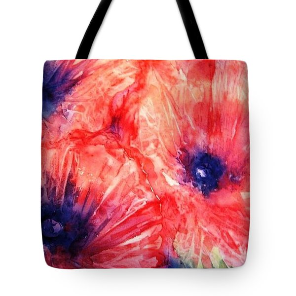 Tote Bag featuring the painting Wild Poppies by Trudi Doyle