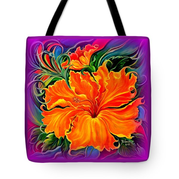 Wild Purple Hibiscus Tote Bag