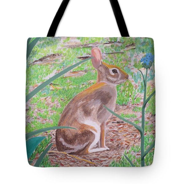 Tote Bag featuring the painting Wild Rabbit by Hilda and Jose Garrancho