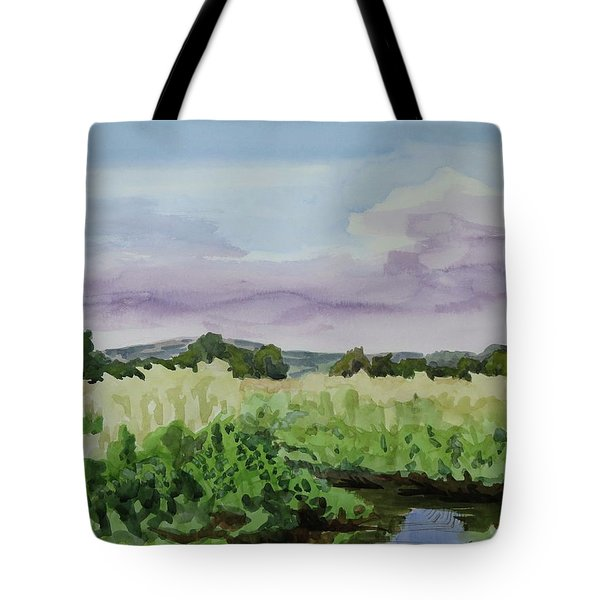 Wild Rice Field Tote Bag by Bethany Lee