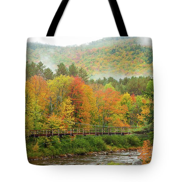 Tote Bag featuring the photograph Wild River Bridge by Susan Cole Kelly