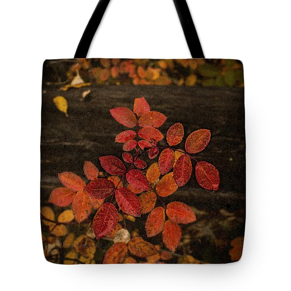 Wild Rose Leaves Tote Bag