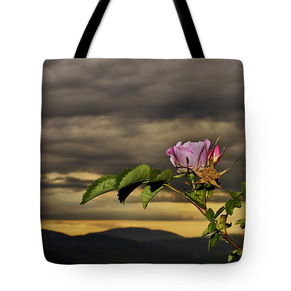 Wild Rose Tote Bag by Loni Collins