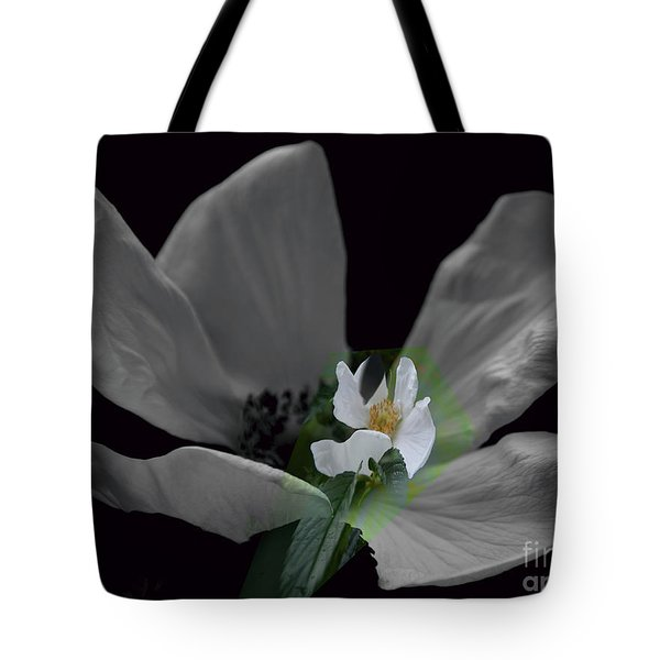Wild Rose Shades Of Grey Tote Bag by Elaine Hunter