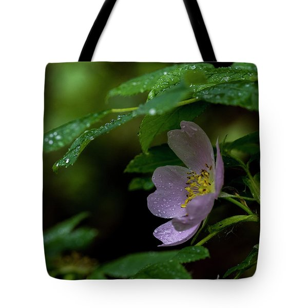 Tote Bag featuring the photograph Wild Rose With Shelter by Darcy Michaelchuk