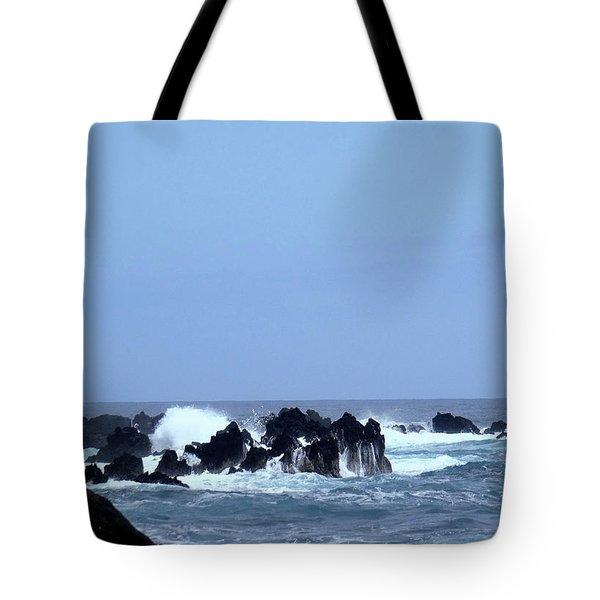 Wild Sea In Madeira Tote Bag