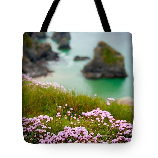 Wild Sea Pinks In Cornwall Tote Bag