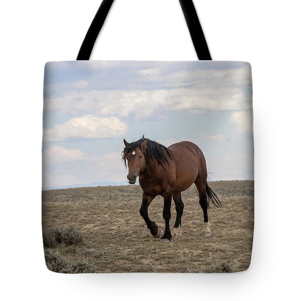 Tote Bag featuring the photograph Wild Stallion by Ronnie and Frances Howard