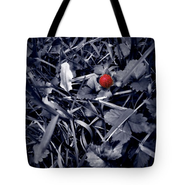Tote Bag featuring the photograph Wild Strawberry by Iowan Stone-Flowers