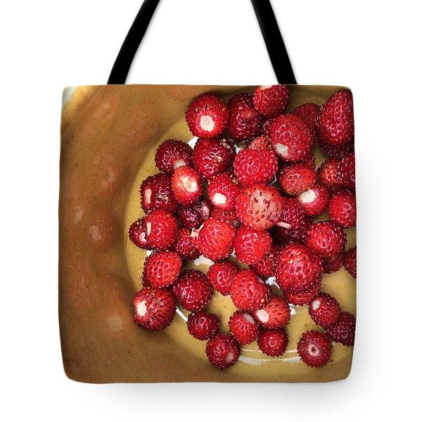 Wild Strawberry Tote Bag