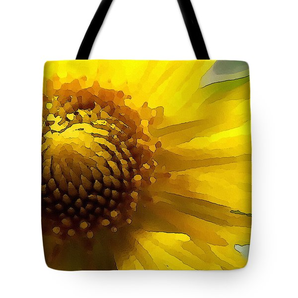 Wild Sunflower Up Close Tote Bag
