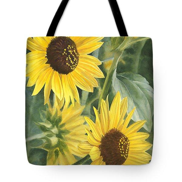 Wild Sunflowers Tote Bag by Sharon Freeman