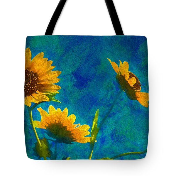 Wild Sunflowers Singing Tote Bag
