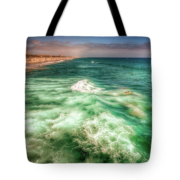 Wild Surfing Tote Bag