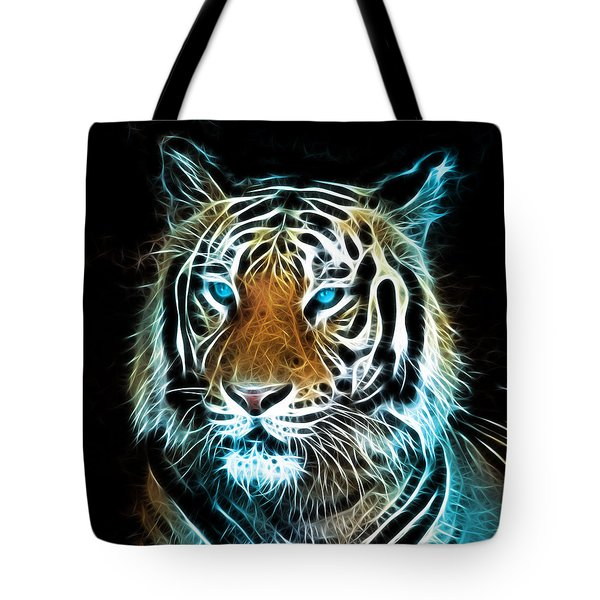 Tote Bag featuring the digital art Wild Thang by Karen Showell