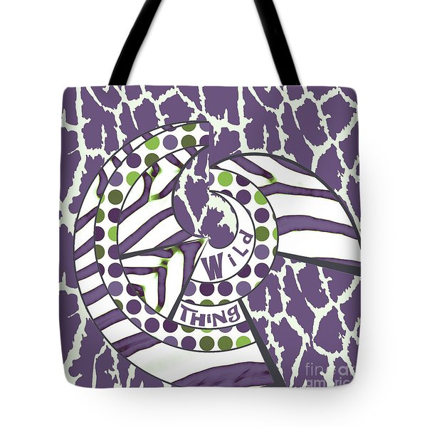 Wild Thing Tote Bag by Methune Hively