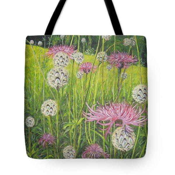 Wild Thistles Tote Bag