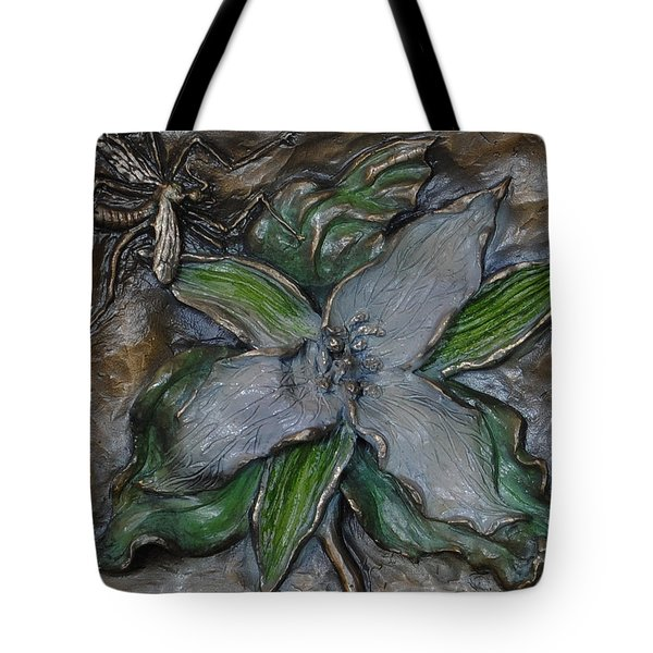 Wild Trillium And Cranefly  Tote Bag by Dawn Senior-Trask