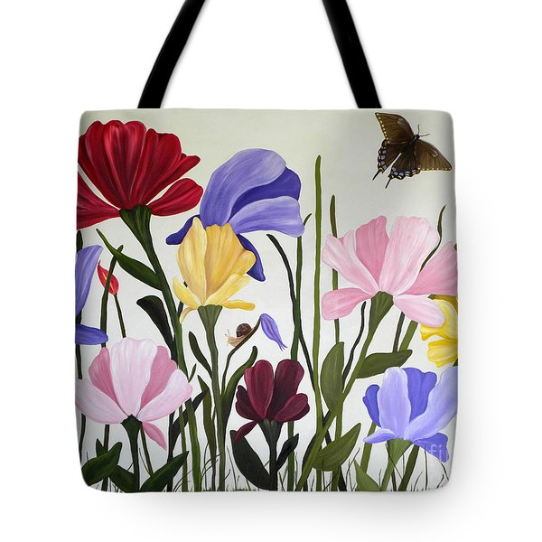Wild Tulips Tote Bag by Terri Mills
