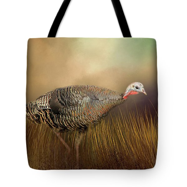 Tote Bag featuring the photograph Wild Turkey Hen by Donna Kennedy