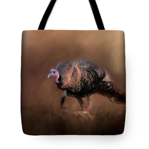 Wild Turkey In The Woods Tote Bag by Jai Johnson