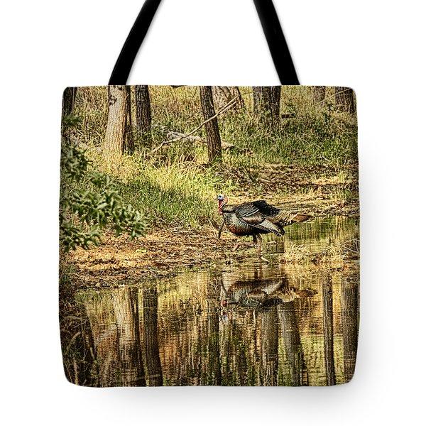 Wild Turkey Reflection Tote Bag