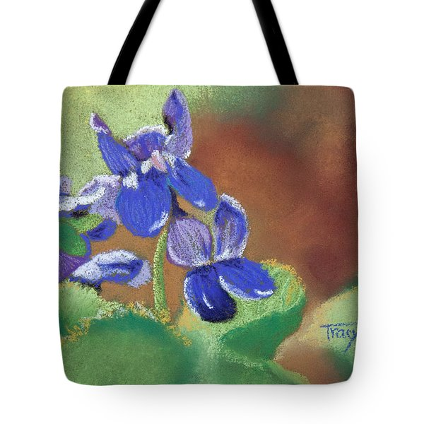 Wild Violets Tote Bag by Tracy L Teeter