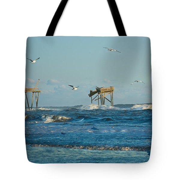 Wild Waves At Nags Head Tote Bag
