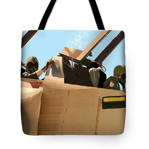 Tote Bag featuring the digital art Wild Weasels by Walter Chamberlain