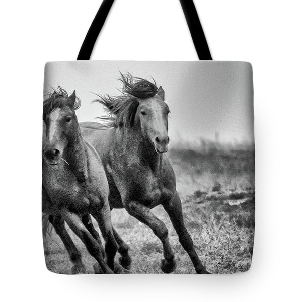 Wild West Wild Horses Tote Bag by Kelly Marquardt