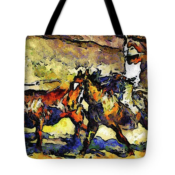 Wild Wild West Van Gogh Style Expressionism Tote Bag