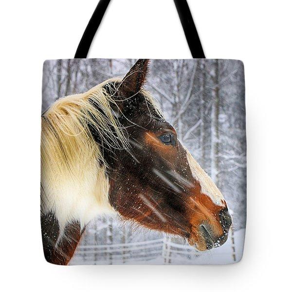 Wild Winter Storm Tote Bag